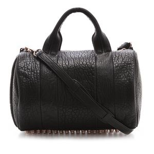 Alexander Wang Rocco Rosegold Leather Satchel Bag